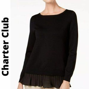 NWT Charter Club Women'sElegant Long Sleeve Blouse